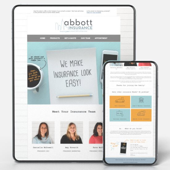 Abbott Insurance Welcome Email Marketing